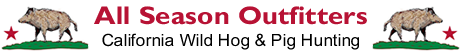 California Wild Hog & Pig Hunting - All Season Outfitters